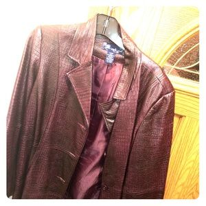 Polyester stylish plum fashion jacket